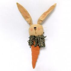 Fabric Carrot Bunny 10.5 Inches