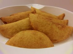Colombian Empanadas- I added potatoes and I baked them instead. I just brushed olive oil before going into oven- they turned out crispy and delicious... Much healthier than frying.LG