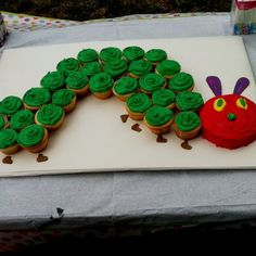 Yay for first birthday cakes and for hungry caterpillars! …
