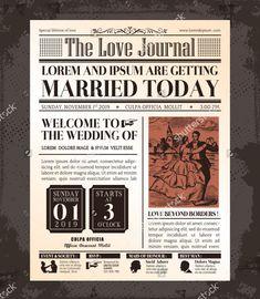 Vintage newspaper wedding invitation the proposal post photo about vintage newspaper journal wedding invitation vector design template 40855295 stopboris Choice Image