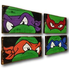 Teenage Mutant Ninja Turtles Wall Art / Turtle by PalletsandPaint