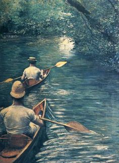 The Canoes, 1878 - Gustave Caillebotte (French, 1848-1894) Impressionism