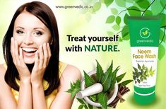 The Greenvedic neem face is also popularly known to be the best neem face wash as it also prevents penetration of many harmful elements. Natural Glow, Natural Skin Care, Organic Face Wash, Ayurvedic Hair Oil, How To Reduce Pimples, Best Face Wash, Dull Skin, Natural Cleaning Products, Aloe Vera Gel