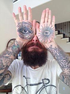 Eyes Tattoo on Palms