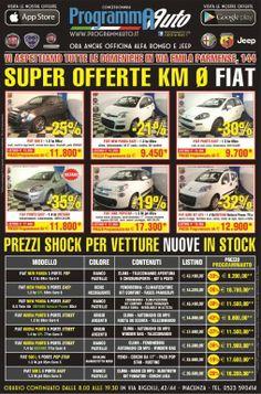 Oltre queste offerte sui KM 0 , se stai valutando l'acquisto di una vettura nuova FIAT e hai un permuta una CHEVROLET o una DAEWOO puoi avere una supervalutazione fino a 2000 Euro