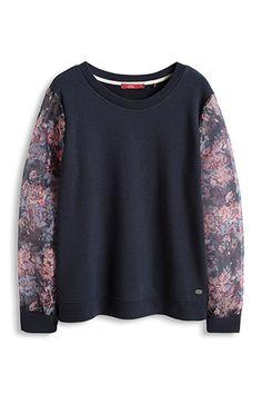 EDC / Sweatshirt met organzamouwen