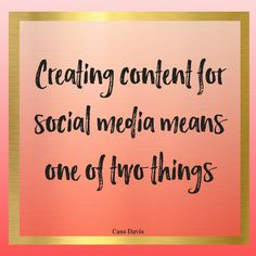 When it comes to creating content for social media, it usually means one of two things for you.  Click to read more or pin for later!