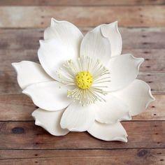 Large Lotus SugarFlower (Water Lily) from gumpaste cake decoration. | CaljavaOnline.com