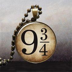 Platform 9 3/4 pendant Hogwarts Express by thependantemporium, $9.25