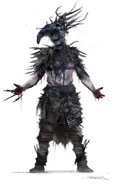 hellblade concept art : note to self, blow ink for chaotic branches.