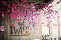 Beautiful butterfly decor at Twist Restaurant @MO_LasVegas #Engage12