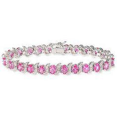 Pink Tiffany Jewelry   Tiffany Pink Sapphire Bracelet Silver Diamond Accents - Tiffany & Co.