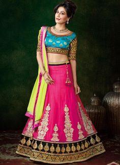 Chitrangada Singh Magenta Net Designer Wedding Lehenga Choli http://www.angelnx.com/Lehenga-Choli