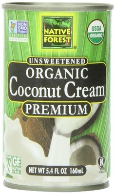 Native Forest Organic Premium Coconut Cream, Unsweetened, 5.4 Ounce (Pack of 12), http://www.amazon.com/dp/B00AF7XMYY/ref=cm_sw_r_pi_awdm_63aatb0NAPS8C