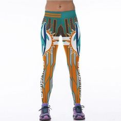 American Football 3D Print Yoga Pants - Miami Dolphins