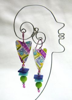 graffitti earrings by droolworthy on Etsy