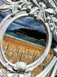 Famous ornate white railing of La Concha Beach in Basque Country. Must get a wedding photo here on elopement trip Santa Clara, Best Cities In Spain, Bay Of Biscay, Ibiza, Cultural Capital, Some Beautiful Pictures, Biarritz, Basque Country, Hotels