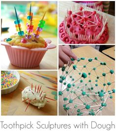 Toothpick Sculptures for Kids :: 17 Fun Toothpick Construction Ideas!