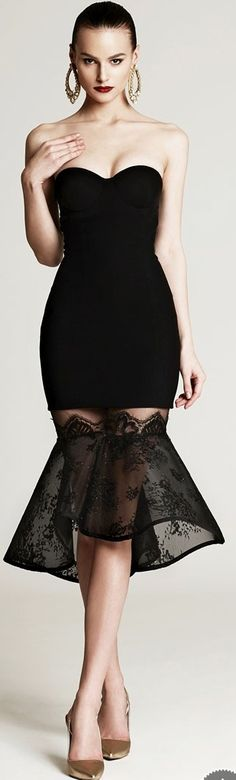 Black Cocktail Short Sleeveless Party Gown | You can find this at => http://feedproxy.google.com/~r/amazingoutfits/~3/z1TxQ4EZz3w/photo.php  maybe a long version of this