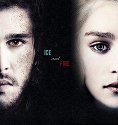 Game of Thrones: Jon Snow and Daenerys Targaryen (Kit Harington and Emilia Clarke)