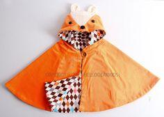 Kid's sewing pattern pdf/ fox cape/ fox van hellodearkids op Etsy