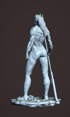 ArtStation - Proxima Midnight - Black Order Thanos, Mitchell Klingler Zbrush, Proxima Midnight, Black Order, Statue, Artwork, Modeling, Templates, Work Of Art, Auguste Rodin Artwork
