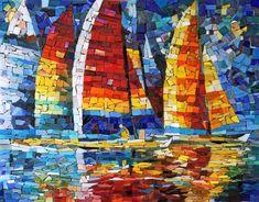 Мозаичная картина Цвета регаты