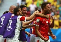 Switzerland 2-1 Ecuador in World Cup 2014 in Brazil