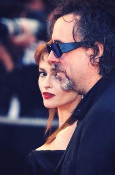 Tim Burton & Helena Bonham Carter Stunning Pic  Can't for her Liz Taylor movie in Oct