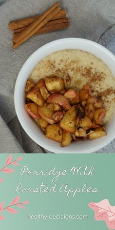 Porridge with roasted apples 🤤🍎 Well warming, creamy and very healthy! The perfect start into a cozy autumn day 🍂 Maybe something for tomorrow morning? ☕️ #porridge #appleporridge #roastedapples #recipe #breakfast #dairyfree #sugarfree #vegan Sugar Free Recipes Healthy, Healthy Breakfast Recipes, Vegan Recipes, Recipe Maker, Roasted Apples, Porridge Recipes, Clean Eating Diet, Apple Recipes, Cozy
