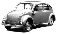 """Dieselpunk: In 1932, Ferdinand Porsche developed a rear-engine prototype for NSU, designated """"Typ 32""""."""
