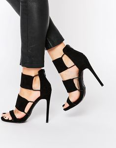 Missguided+Heeled+Elastic+Gladiator