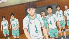 青葉城西高校 Oikawa Tooru, Iwaoi, Nishinoya, Kageyama, Kenma, Hinata, Team Wallpaper, Haikyuu Wallpaper, Volleyball Anime