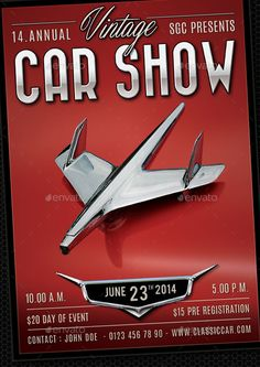Classic Car Show Flyer U2014 Photoshop PSD #stock #show U2022 Available Here → Https