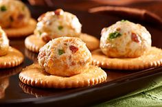 Top your RITZ cracker with these Bacon-Jalapeno Puffs!
