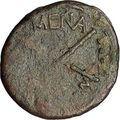 MENAINON in SICILY 2ndCenBC Demeter Torches RARE R1 Ancient Greek Coin i51982