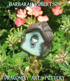 Mini Garden Birdhouse. $7.00, via Etsy.