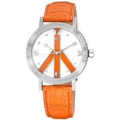 Love Peace and Hope Midsize LPE103 Time for Peace Orange Watch
