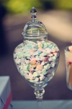 Hostess with the Mostess® - Sugar & Spice Sweets Station - like the shape of this jar