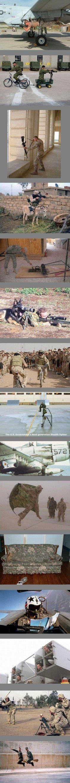 Soldiers having fun.