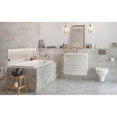 Patchworkowe płytki z kolekcji Concrete Style. Alcove, Concrete, Tiles, Bathtub, Vanity, Bathroom, Room Tiles, Standing Bath, Dressing Tables