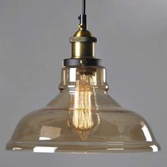 American Country Retro Vintage Glass Lampshade Pendant Light Glass Lamp for Bar Clothes Shop Pendant Lamp lustres Fixtures Industrial Hanging Lights, Vintage Pendant Lighting, Retro Lighting, Led Pendant Lights, Glass Pendant Light, Glass Pendants, Pendant Lamps, Brass Lamp, Modern Lighting