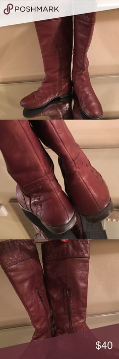 Authentic Franco Sarto leather boots Pre loves but well taken care of normal wear and tear but I actually just conditioned the leather and they look great. Please request more pictures. Franco Sarto Shoes Heeled Boots