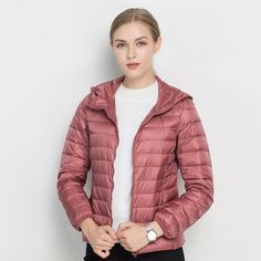 ac3dcc08c0a7 COMLESS 18 Colors Casual Ultralight Down Jacket with 90% Down 10%Feather  Women Hoodies