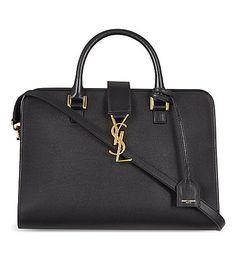 c4ba25af708 SAINT LAURENT Cabas Monogram Small Leather Tote.  saintlaurent  bags   leather  hand bags  tote