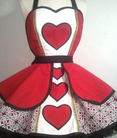 Queen of Hearts costume apron