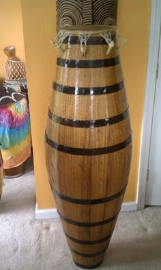 Restoration for Master drummer C. Quite an honor to work on this drum - CongaDr, Tony's Conga Adventures Diy Drums, Best Drums, Drum Music, Miles Davis, Drummers, Musical Instruments, Musicians, Restoration, Vase