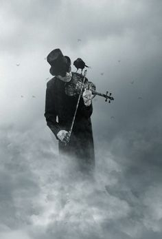 Playing music in the clouds.
