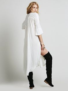 Free People Drippy Crochet Inset Maxi at Free People Clothing Boutique
