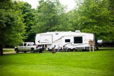 """Setting up camp in Gettysburg, PA. It typically takes us 30-60 minutes to set up our campsites. Each of us have different jobs to help the set up go more smoothly."" - Jenn #GoRVing"